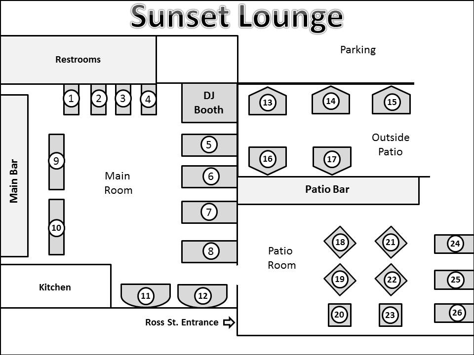 sunset lounge diagram