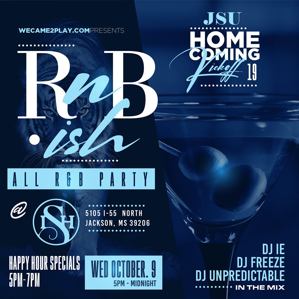 RnB-ISH Homecoming Kickoff All R&B Party